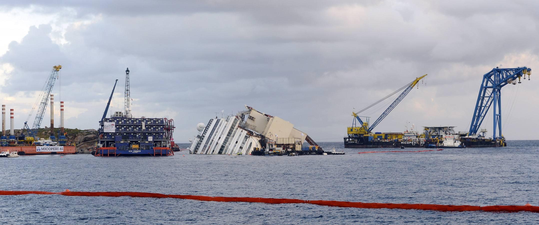 El giro del 'Costa Concordia'